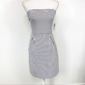 NEW Old Navy White Striped Strapless Dress XS